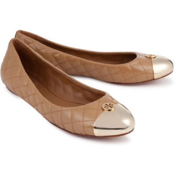 3c781a5a544 TORY BURCH Kaitlin quilted leather ballet flats. M 5a721faafcdc31af87fe5336